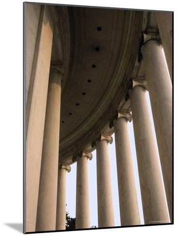 Columns Surround the Jefferson Statue at the Jefferson Memorial-Rex Stucky-Mounted Photographic Print
