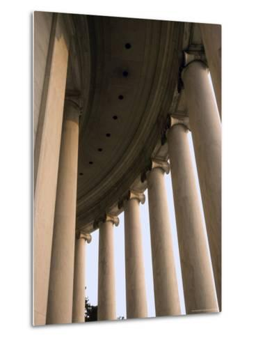 Columns Surround the Jefferson Statue at the Jefferson Memorial-Rex Stucky-Metal Print