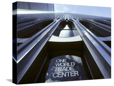 Skyward View of the Twin Towers of the World Trade Center-Rex Stucky-Stretched Canvas Print