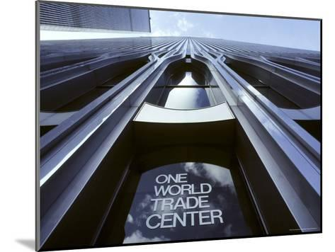 Skyward View of the Twin Towers of the World Trade Center-Rex Stucky-Mounted Photographic Print