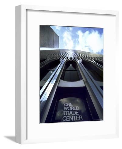 Skyward View of the Twin Towers of the World Trade Center-Rex Stucky-Framed Art Print