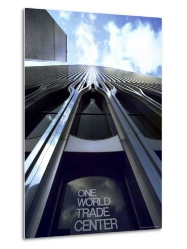 Skyward View of the Twin Towers of the World Trade Center-Rex Stucky-Metal Print