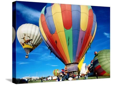 Hot Air Balloons at Annual Great Reno Balloon Race-Judy Bellah-Stretched Canvas Print