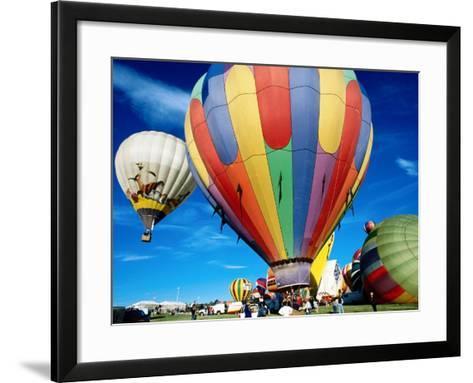 Hot Air Balloons at Annual Great Reno Balloon Race-Judy Bellah-Framed Art Print