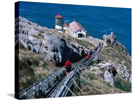 302 Steps Lead to Point Reyes Lighthouse-Judy Bellah-Stretched Canvas Print