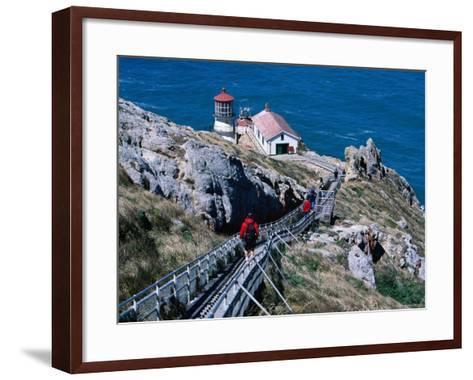 302 Steps Lead to Point Reyes Lighthouse-Judy Bellah-Framed Art Print