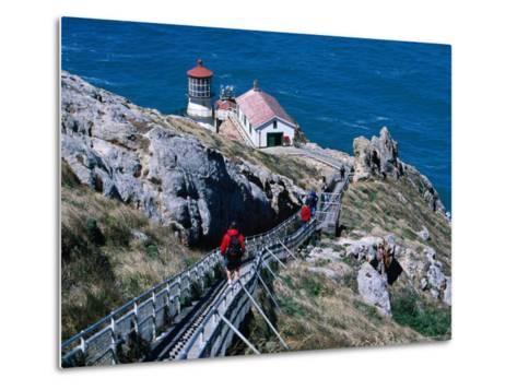 302 Steps Lead to Point Reyes Lighthouse-Judy Bellah-Metal Print