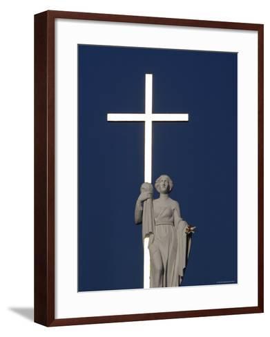 St Helen Holding a Golden Cross on Top of Vinius Cathedral-Bruce Bi-Framed Art Print