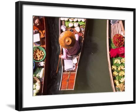 Overhead of Boats at Floating Market, Damnoen Sadoak-Karl Blackwell-Framed Art Print