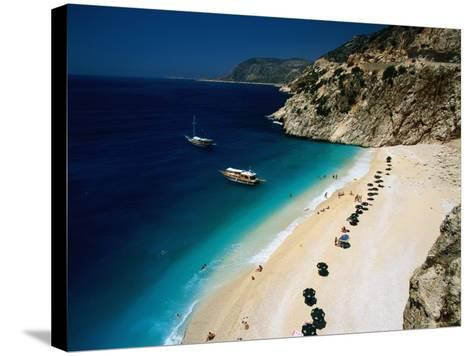 Kaputas Cove and Beach-Izzet Keribar-Stretched Canvas Print