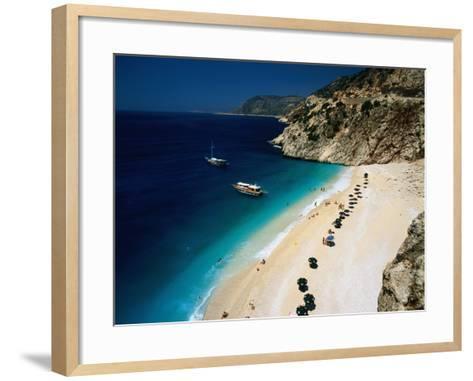 Kaputas Cove and Beach-Izzet Keribar-Framed Art Print