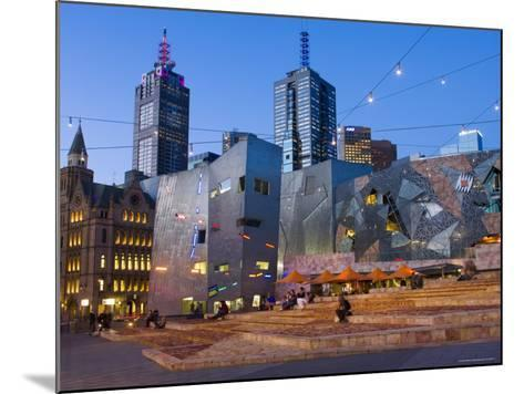 Federation Square at Dusk-Greg Elms-Mounted Photographic Print