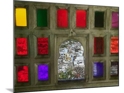Stained Glass Window Panes in City Palace-Keren Su-Mounted Photographic Print