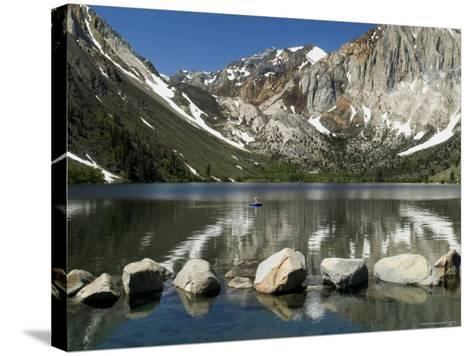 Trout Fishing on Convict Lake-Emily Riddell-Stretched Canvas Print