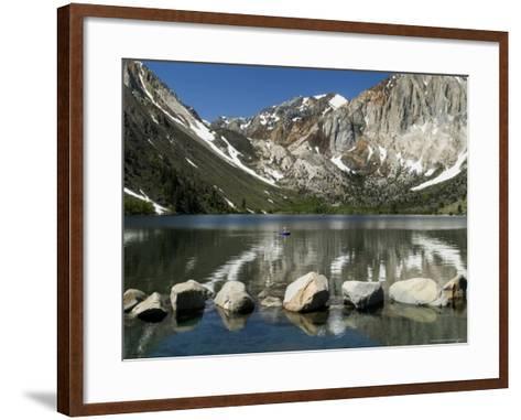 Trout Fishing on Convict Lake-Emily Riddell-Framed Art Print