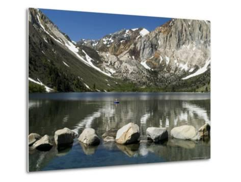 Trout Fishing on Convict Lake-Emily Riddell-Metal Print