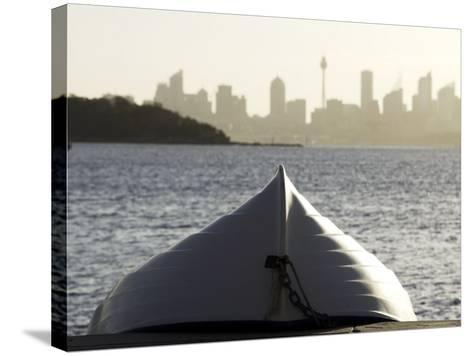 Upturned Dinghy, Watsons Bay-Oliver Strewe-Stretched Canvas Print