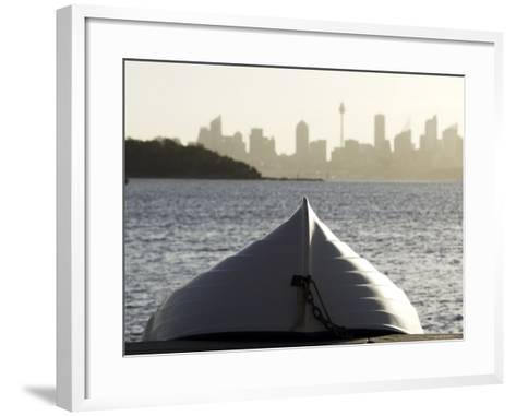 Upturned Dinghy, Watsons Bay-Oliver Strewe-Framed Art Print