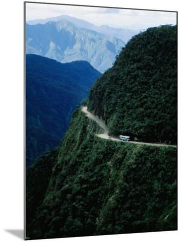 Bus Travelling the World's Most Dangerous Road-Craig Pershouse-Mounted Photographic Print