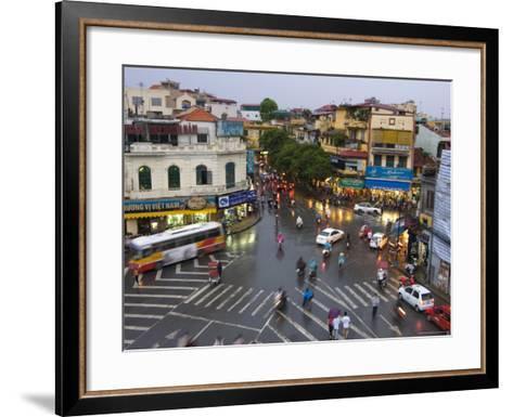 Traffic Intersection, Downtown Hanoi-Austin Bush-Framed Art Print