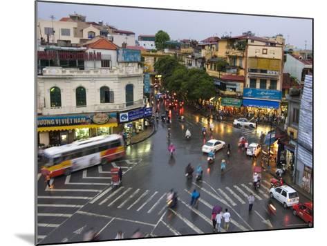 Traffic Intersection, Downtown Hanoi-Austin Bush-Mounted Photographic Print