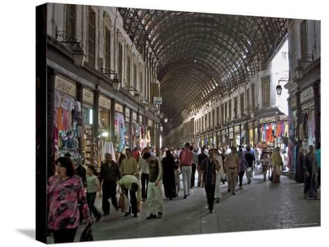 Damascus' Prime Shopping Arcade, Souq Al-Hamidiyya-Patrick Horton-Stretched Canvas Print