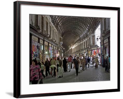 Damascus' Prime Shopping Arcade, Souq Al-Hamidiyya-Patrick Horton-Framed Art Print