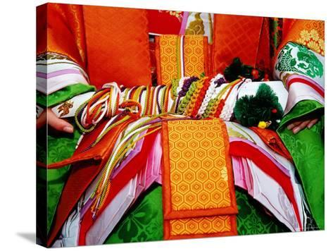 Detail of Traditional Costume at the Jidai Matsuri Festival-Frank Carter-Stretched Canvas Print