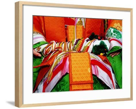 Detail of Traditional Costume at the Jidai Matsuri Festival-Frank Carter-Framed Art Print