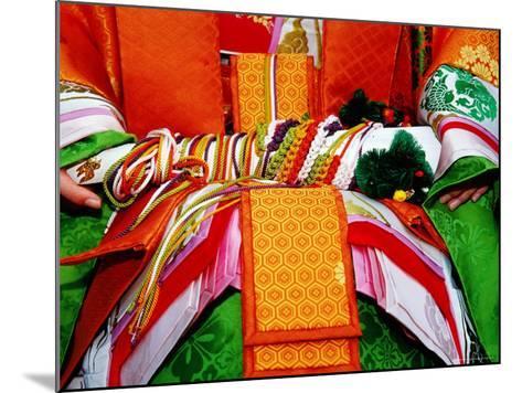 Detail of Traditional Costume at the Jidai Matsuri Festival-Frank Carter-Mounted Photographic Print