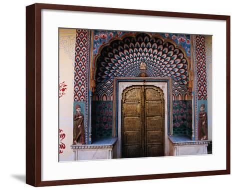 Lotus Gate in Pitam Niwas Chowk in City Palace-Richard I'Anson-Framed Art Print