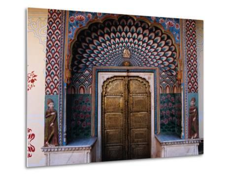 Lotus Gate in Pitam Niwas Chowk in City Palace-Richard I'Anson-Metal Print