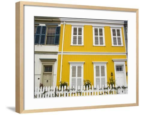 Colourful Houses in Hillside of City-Roberto Gerometta-Framed Art Print