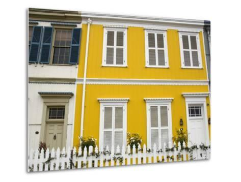 Colourful Houses in Hillside of City-Roberto Gerometta-Metal Print