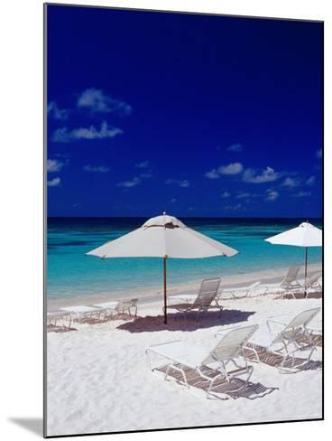 Beach Chairs and Umbrellas on Long Bay Beach-Richard I'Anson-Mounted Photographic Print