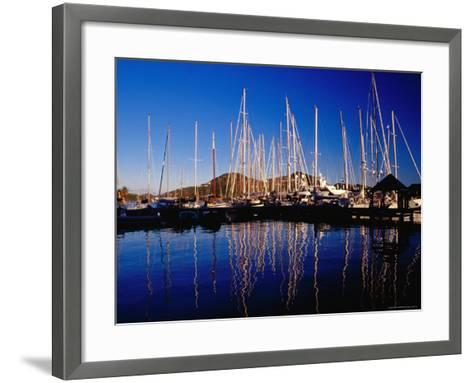 Yachts in Marina at Falmouth Harbour-Richard I'Anson-Framed Art Print
