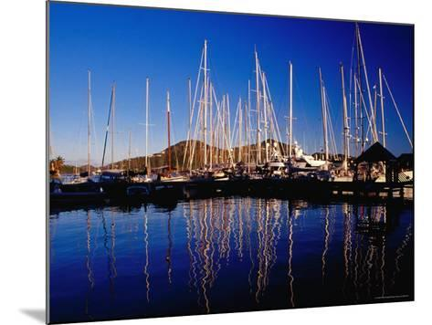 Yachts in Marina at Falmouth Harbour-Richard I'Anson-Mounted Photographic Print