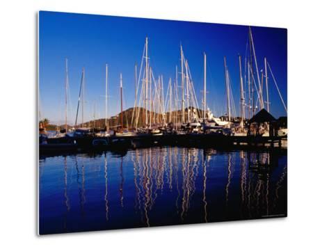 Yachts in Marina at Falmouth Harbour-Richard I'Anson-Metal Print