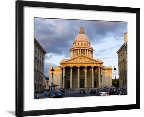 Late Afternoon Light on the Pantheon, Latin Quarter-Glenn Beanland-Framed Art Print