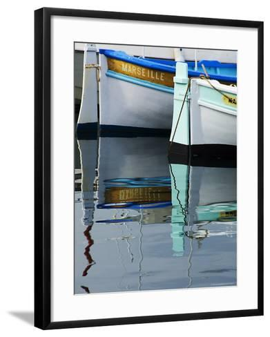Boats Moored at Vieux Port-Glenn Beanland-Framed Art Print