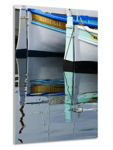 Boats Moored at Vieux Port-Glenn Beanland-Metal Print