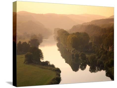 Vltava Moldau River from Karlstejn Castle-Christer Fredriksson-Stretched Canvas Print