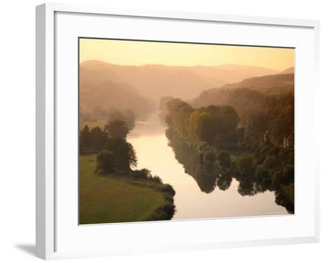 Vltava Moldau River from Karlstejn Castle-Christer Fredriksson-Framed Art Print