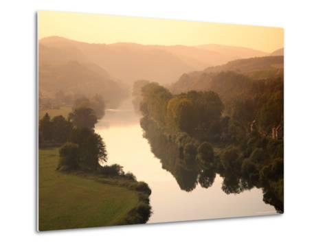 Vltava Moldau River from Karlstejn Castle-Christer Fredriksson-Metal Print