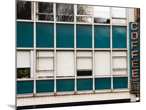 Detail of Coffee Shop Windows and Sign-Michelle Bennett-Mounted Photographic Print