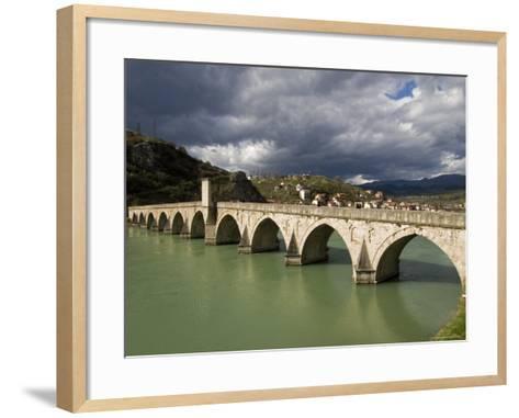 Mehmed Pasa Sokolovic Bridge over the Drina River-Patrick Horton-Framed Art Print