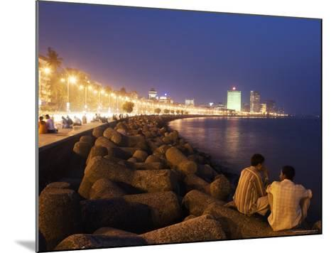 People Relax at the End of Day Along Marine Drive-Orien Harvey-Mounted Photographic Print