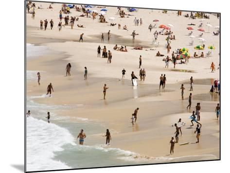 People Enjoying the Beach and Surf at Ipanema Beach-Tim Hughes-Mounted Photographic Print