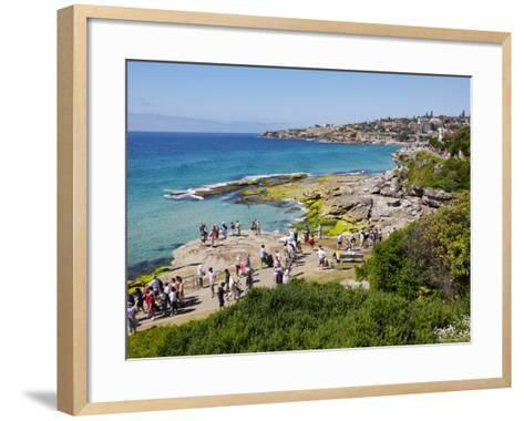 Mckenzies Bay, and the Bondi to Tamarama Walkway-Oliver Strewe-Framed Art Print