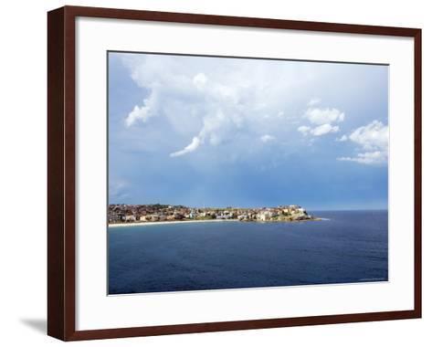 Clouds over Ben Buckler, Bondi Beach-Oliver Strewe-Framed Art Print